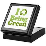I Love Being Green Keepsake Box