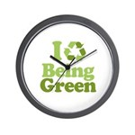 I Love Being Green Wall Clock