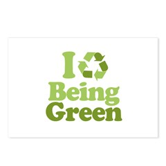 I Love Being Green Postcards (Package of 8)