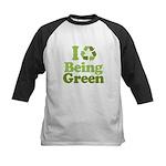 I Love Being Green Kids Baseball Jersey