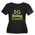 I Love Being Green Women's Plus Size Scoop Neck Da