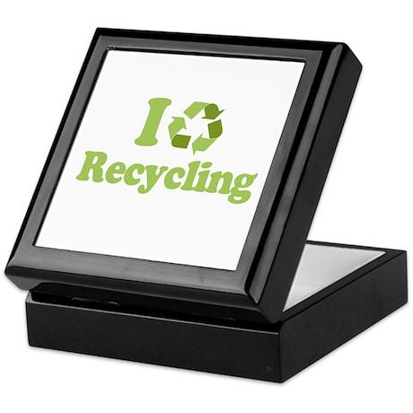 I Love Recycling Keepsake Box