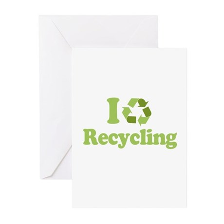 I Love Recycling Greeting Cards (Pk of 10)