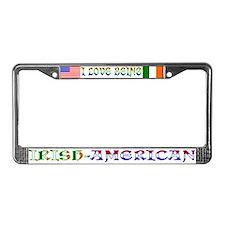 Irish-American License Plate Frame