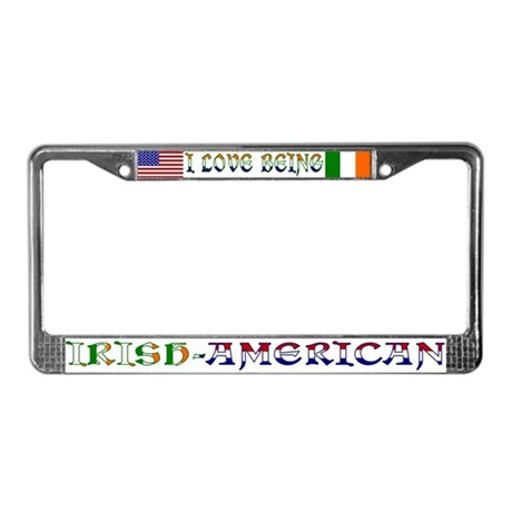 Irish-American License Plate Frame