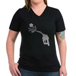 Biodiesel Bouquet Women's V-Neck Dark T-Shirt