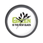 Green is the new black Wall Clock