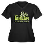 Green is the new black Women's Plus Size V-Neck Da
