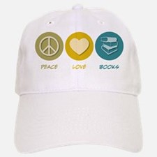 Peace Love Books Baseball Baseball Cap