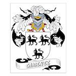 Gimenez Family Crest Small Poster