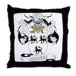 Gimenez Family Crest Throw Pillow