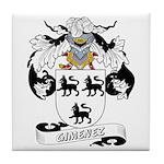 Gimenez Family Crest Tile Coaster