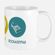 Peace Love Bookkeeping Mug