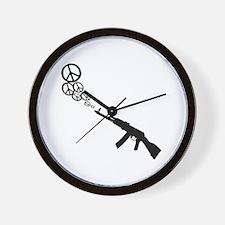 Peace Gun Wall Clock
