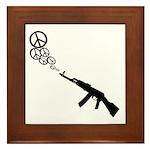 Peace Gun Framed Tile