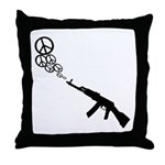 Peace Gun Throw Pillow