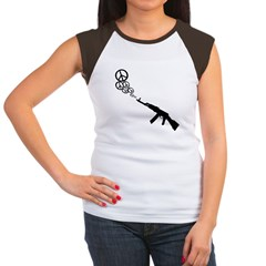 Peace Gun Women's Cap Sleeve T-Shirt