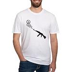 Peace Gun Fitted T-Shirt