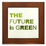 The Future is Green Framed Tile
