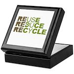 Reuse Reduce Recycle Keepsake Box