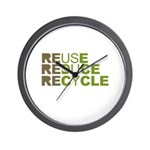 Reuse Reduce Recycle Wall Clock