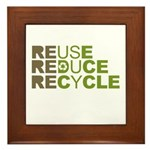 Reuse Reduce Recycle Framed Tile