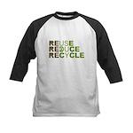 Reuse Reduce Recycle Kids Baseball Jersey