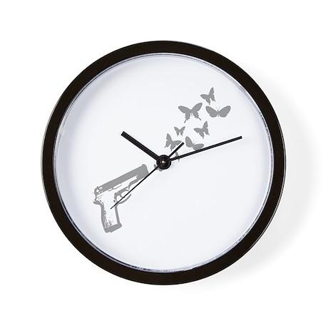 Butterfly Gun Wall Clock