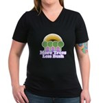 More Trees Less Bush Women's V-Neck Dark T-Shirt