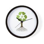 Recycling Tree Wall Clock