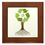 Recycling Tree Framed Tile