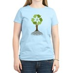 Recycling Tree Women's Light T-Shirt