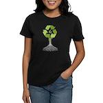 Recycling Tree Women's Dark T-Shirt