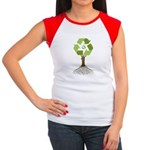 Recycling Tree Women's Cap Sleeve T-Shirt