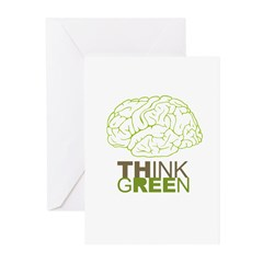 The future is green Greeting Cards (Pk of 20)
