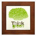 Think Green Framed Tile