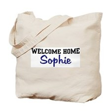 Welcome Home Sophie Tote Bag