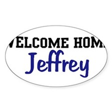 Welcome Home Jeffrey Oval Decal