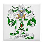 Granada Family Crest Tile Coaster