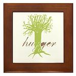 Tree Hugger Shirt Framed Tile
