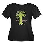 Tree Hugger Shirt Women's Plus Size Scoop Neck Dar