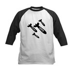 Love Bombs Kids Baseball Jersey