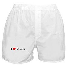 I Love Clones Boxer Shorts