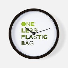 One less plastic bag Wall Clock