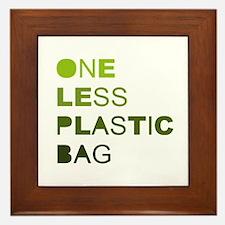 One less plastic bag Framed Tile