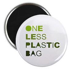 "One less plastic bag 2.25"" Magnet (10 pack)"