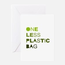 One less plastic bag Greeting Card