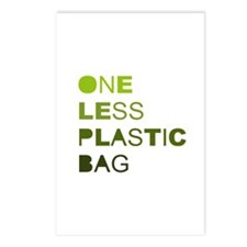 One less plastic bag Postcards (Package of 8)