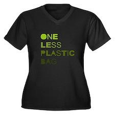 One less plastic bag Women's Plus Size V-Neck Dark