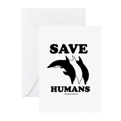 Save the Humans Greeting Cards (Pk of 10)